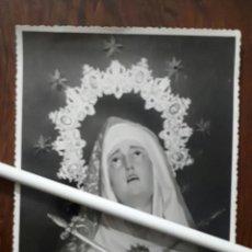 Fotografía antigua: ANTIGUA FOTOGRAFIA DE NUESTRA SEÑORA DE LOS DOLORES DE DENIA ALICANTE . Lote 108414055