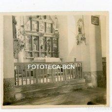 Fotografía antigua: FOTO ORIGINAL RETABLO ROMANICO IGLESIA POSIBLEMENTE VALL D'ARAN AÑOS 30. Lote 108438631
