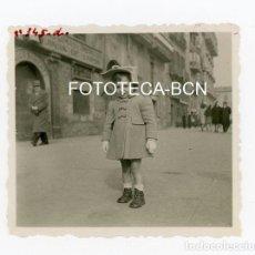 Fotografía antigua: FOTO ORIGINAL BARCELONA PASEO COLON COMERCIO DE MATEO GISBERT ACCESORIOS MAQUINAS VAPOR AÑO 1943. Lote 108888559
