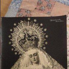 Fotografía antigua: ANTIGUA FOTOGRAFIA.VIRGEN DEL ROSARIO.HERMANDAD MONTE SION.FOTO FIRMADA FERNAND.SEVILLA. Lote 109117007
