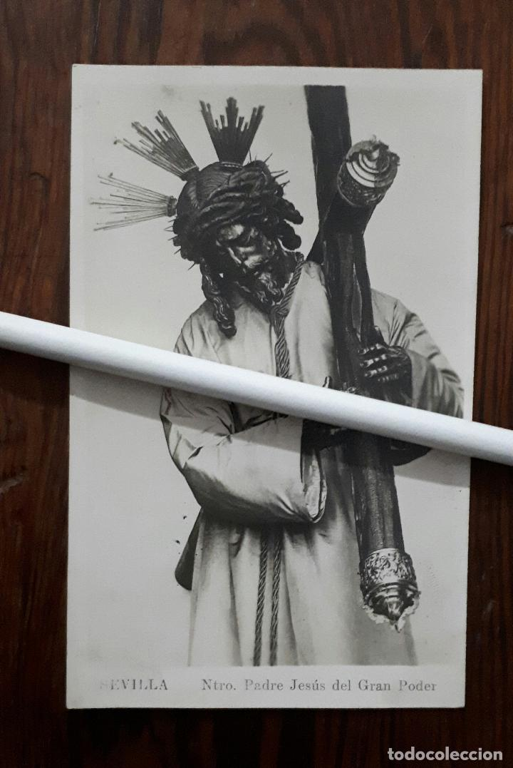 ANTIGUA FOTOGRAFIA DE DE NTRO. PADRE JESÚS DEL GRAN PODER SEVILLA (Fotografía Antigua - Fotomecánica)