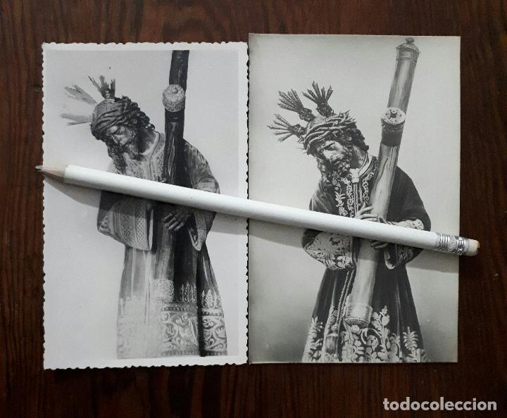 2 ANTIGUAS FOTOGRAFIAS DE DE NTRO. PADRE JESÚS DEL GRAN PODER SEVILLA (Fotografía Antigua - Fotomecánica)
