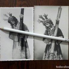 Fotografía antigua: 2 ANTIGUAS FOTOGRAFIAS DE DE NTRO. PADRE JESÚS DEL GRAN PODER SEVILLA . Lote 109125511