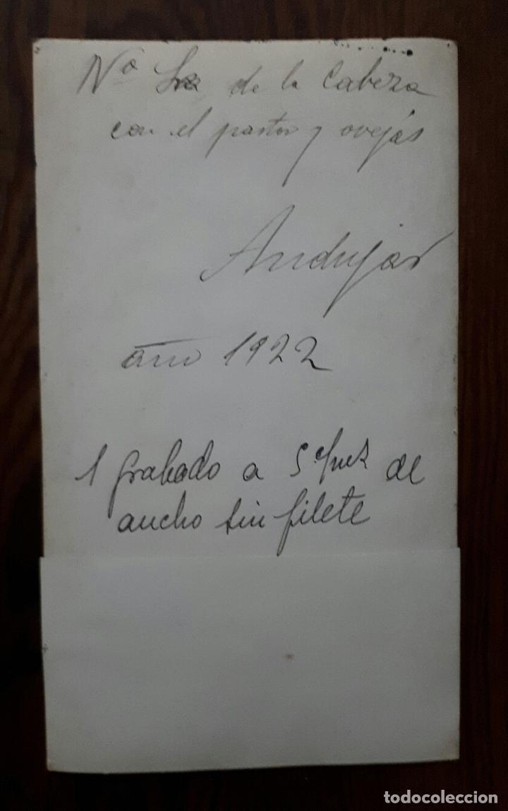 Fotografía antigua: ANTIGUA FOTOGRAFIA DE NUESTRA SEÑORA DE LA CABEZA PATRONA DE ANDÚJAR JAEN 1922 - Foto 2 - 109125971