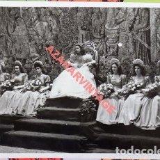 Fotografía antigua: SEVILLA, AÑOS 40, LA DUQUESA DE ALBA EN LOS JUEGOS FLORALES, ESPECTACULAR, 165X115MM. Lote 109241199