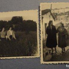 Fotografía antigua: CONJUNTO DE 2 FOTOGRAFIAS.GRUPO DE CHICAS.FOTO RUBEN.NAVALCAN.TOLEDO.AÑOS 50. Lote 109314399