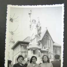 Fotografía antigua: ANTIGUA FOTOGRAFÍA FALLAS DE VALENCIA. FALLA DEL MERCADO. VALENCIA, 17 MARZO, 1957. Lote 109450551