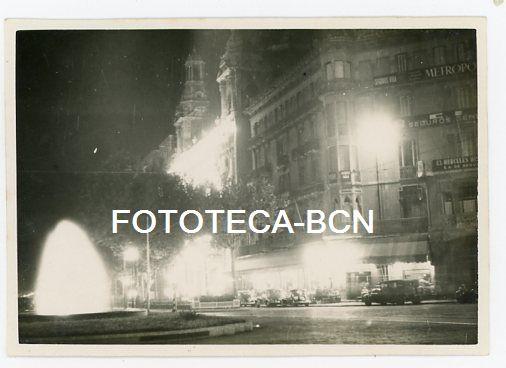 Foto original barcelona iluminada gran via con comprar fotograf a antigua fotomec nica en - Casa del libro barcelona rambla catalunya ...