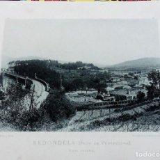 Fotografía antigua: FOTOTIPIA PONTEVEDRA REDONDELA VISTA GENERAL HAUSER Y MENET AÑO 1892, 26X21 CMS. Lote 109485611