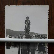 Fotografía antigua: ANTIGUA FOTOGRAFIA DE SAN ROQUE DE NAVIA EN PROCESION ASTURIAS . Lote 110069983