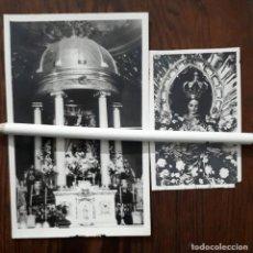 Fotografía antigua: 2 ANTIGUAS FOTOGRAFIAS DE NUESTRA SEÑORA DEL CASTILLO PATRONA DE VILCHES JAEN. Lote 110070863