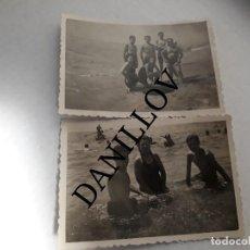 Fotografía antigua: BAÑISTAS PLAYA MALLORCA BALEARES FOTO ANTIGUA ORIGINAL AÑO 1932. Lote 110192487