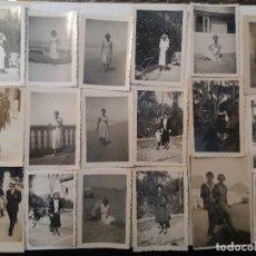 Fotografía antigua: LOTE DE 80 ANTIGUAS FOTOGRAFÍAS DE PERSONAS. Lote 110207463