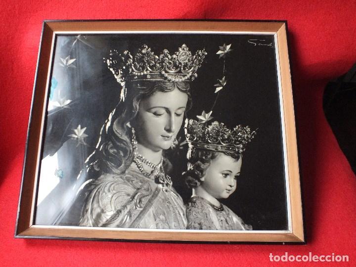 Fotografía antigua: FOTO FOTOGRAFIA SEMANA SANTA DE SEVILLA VIRGEN MARIA AUXILIADORA ENMARCADA - Foto 2 - 110384455