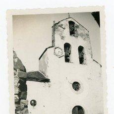 Fotografía antigua: FOTO ORIGINAL IGLESIA SANT ESTEVE LA TOR DE QUEROL ALTA CERDANYA FRANCIA AÑOS 40. Lote 110614887