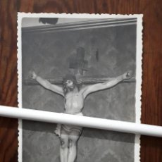 Fotografía antigua: ANTIGUA FOTOGRAFIA DEL SANTÍSIMO CRISTO DE LA MISERICORDIA MORILES CORDOBA. Lote 110757343