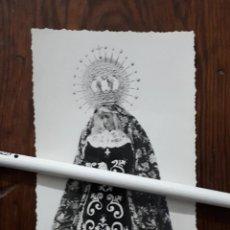 Fotografía antigua: ANTIGUA FOTOGRAFIA DE NUESTRA SEÑORA DE LOS DOLORES ALCONERA BADAJOZ. Lote 110758763