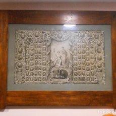 Fotografía antigua: ENORME ORLA ANTIGUA,FACULTAD DE MEDICINA,VALLADOLID 1909-1915 - MARCO ESPECTACULAR DE NOGAL DE EPOCA. Lote 111283439