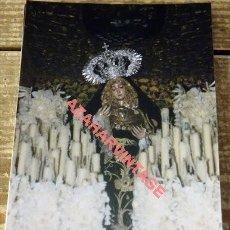 Fotografía antigua: SEMANA SANTA SEVILLA, VIRGEN DEL ROSARIO, MONTESION, 100X150MM. Lote 111356667