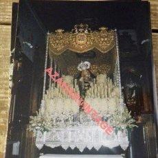 Fotografía antigua: SEMANA SANTA SEVILLA, VIRGEN DEL ROSARIO, MONTESION, 100X150MM. Lote 111356859