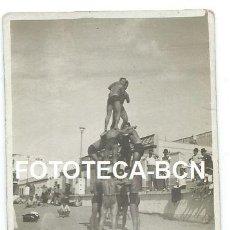 Alte Fotografie - FOTO ORIGINAL SOLDADOS DE LA MARINA ESPAÑOLA EN LA PLAYA DE LAS PALMAS DE GRAN CANARIA AÑO 1948 - 111375011