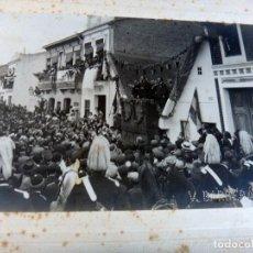 Fotografía antigua: FOTOGRAFIA VALENCIA , FOTO BARBERA MASIP , BLASCO IBAÑEZ EN LAS CALLES DEL CABAÑAL , ORIGINAL . Lote 111440571