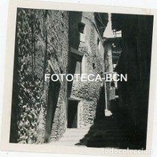 Fotografía antigua: FOTO ORIGINAL BAGÀ CALLE DE LA POBLACION AÑO 1954. Lote 111972167
