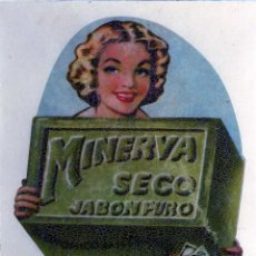 Fotografía antigua: MALAGA=COPIA-FOTOGRAFIA DE PUBLICIDAD DEL PRODUCTO=JABON MINERVA=.. Lote 112594355