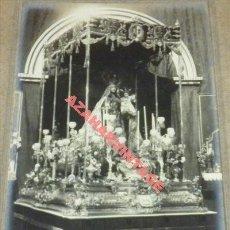 Fotografía antigua: SAN FERNANDO, CADIZ, 1921, PASO DE LA VIRGEN DEL CARMEN, ESPECTACULAR, 168X114MM. Lote 112599115