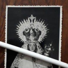Fotografía antigua: ANTIGUA FOTOGRAFIA DE NUESTRA SEÑORA DEL ROSARIO BURGUILLOS SEVILLA. Lote 112830035