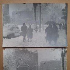 Photographie ancienne: BARCELONA FOTOGRAFÍA NEVADA AÑO 1962 ARCO DEL TRIUMFO. Lote 112883375