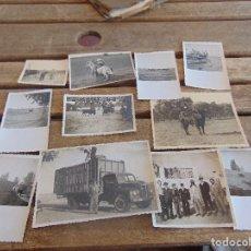 Fotografía antigua: LOTE DE 11 FOTOS TEMAS TAURINOS UNA MARCADA EN PARTE TRASERA FREGENAL 1952. Lote 112984415