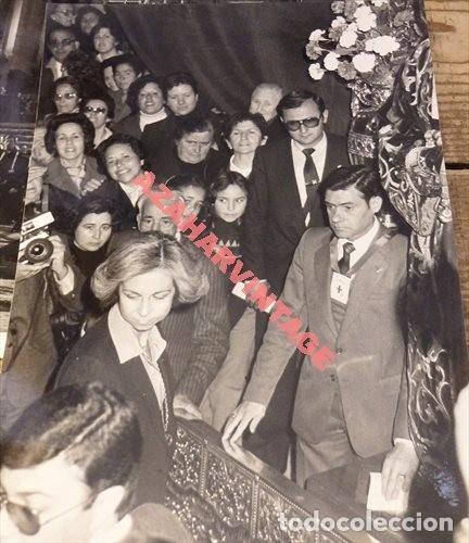 MADRID, 1982, LA REINA DOÑA SOFIA EN JESUS DE MEDINACELI, 180X240MM (Fotografía Antigua - Fotomecánica)