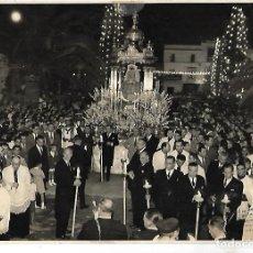 Fotografía antigua: PUERTO SANTA MARIA. PROCESION DE LA PATRONA. 24 X 18CM. Lote 113242735