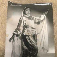 Fotografía antigua: ANTIGUA FOTOGRAFÍA NIÑA VESTIDA DE CARNAVAL AÑOS 50-60. Lote 110333963