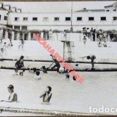Fotografía antigua: ANTIGUA FOTOGRAFIA DE LA COLONIA MUNICIPAL INFANTIL DE JABUGO, HUELVA, 140X90MM. Lote 113843071
