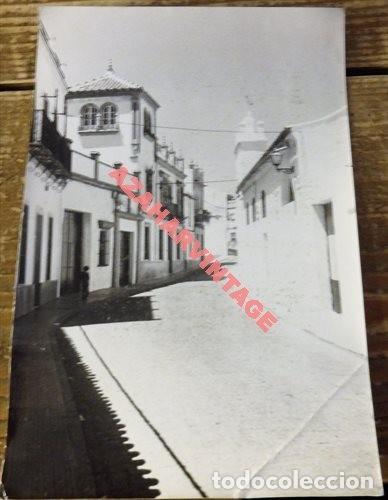 ANTIGUA FOTOGRAFIA, VISTA CASCO ANTIGUO VILLANUEVA DEL ARISCAL, 128X178MM (Fotografía Antigua - Fotomecánica)