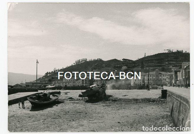 FOTO ORIGINAL MUROS PROVINCIA CORUÑA PLAYA PUERTO BARCAS PESCADORES AÑOS 60 (Fotografía Antigua - Fotomecánica)