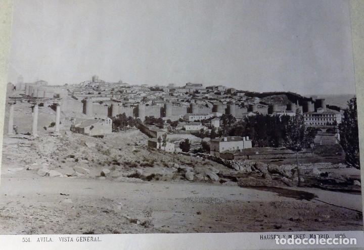 AVILA, VISTA GENERAL, HAUSER Y MENET, 1895, 40X30 CMS CON MARCO (Fotografía Antigua - Fotomecánica)