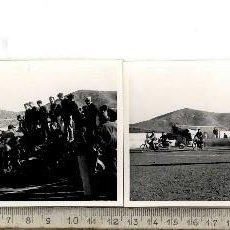 Fotografía antigua: CARTAGENA MOTOS LLANO DEL BEAL ???? CONJUNTO 4 FOTOS AÑOS 50-60. Lote 114838719