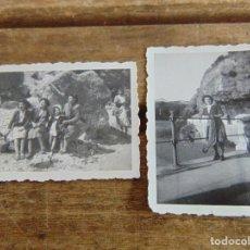 Fotografía antigua: 2 FOTO FOTOGRAFIA EL CHORRO PANTANO MALAGA CAMINITO DEL REY 1944. Lote 115609419