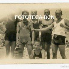 Alte Fotografie - FOTO ORIGINAL PLAYA DE MONTGAT BAÑISTAS AÑO 1926 - 115680895
