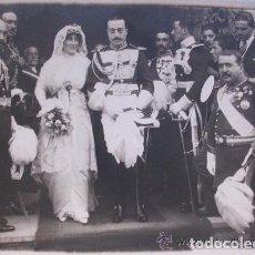 Fotografía antigua: FOTO DE BODA DE UN MIEMBRO DE LA REAL MAESTRANZA DE CABALLERIA , EPOCA ALFONSO XIII. Lote 116477091