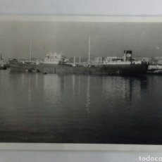 Fotografía antigua: BARCO EN SANTANDER.. Lote 116540670