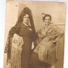 Fotografía antigua: MUJERES DE MANTILLA. (C/A31). Lote 116658911