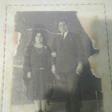 Fotografía antigua: FOTOGRAFIA MATRIMONIO AÑOS 20, ESTA EN MAL ESTADO VER FOTOS. Lote 116791188