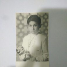 Fotografía antigua: FOTOGRAFIA RECUERDO NIÑO PRIMERA COMUNION,1971,FOTO AÑOS 70. Lote 116792768