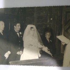Fotografía antigua: FOTOGRAFIA FAMILIAR DE BODA AÑO 1965 DEDICADA,CARCELA SEVILLA,SAN FRANCISCO. Lote 116793172