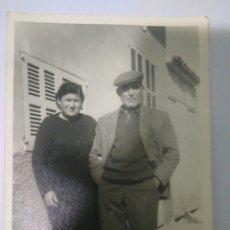 Fotografía antigua: FOTOGRAFIA PAREJA ANCIANOS PUEBLO SEVILLA AÑOS 40. Lote 116794371