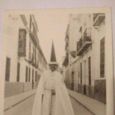 Fotografía antigua: FOTOGRAFIA NAZARENO SEVILLA DEDICADA Y FIRMADA 1963. Lote 116803506